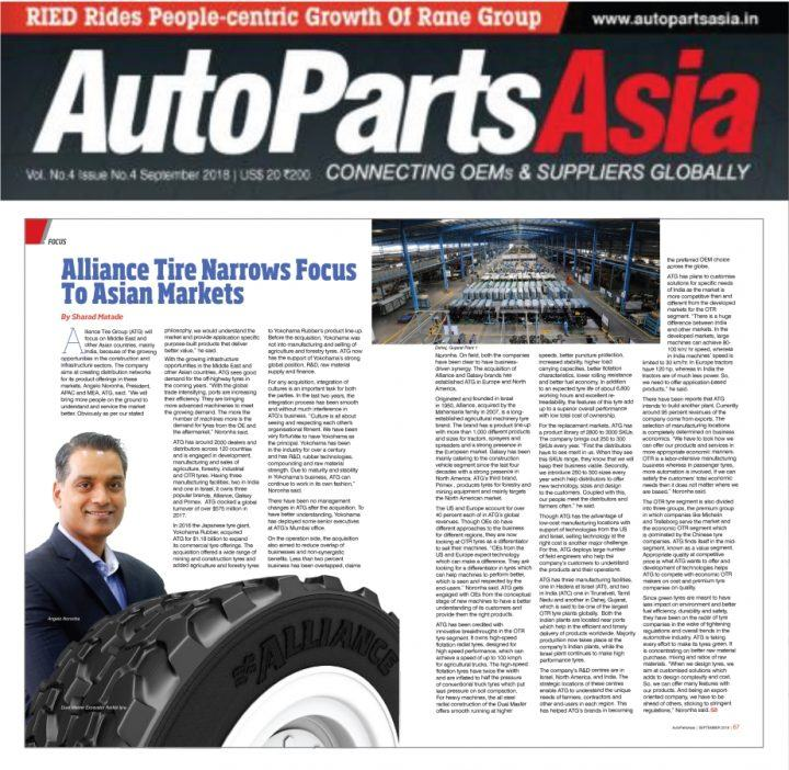 AutoParts Asia features Angelo Noronha, President APAC & MEA