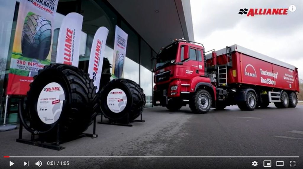 Alliance 398 MPT: perfect traction in the field & high speed on the road (up to 100km/h)